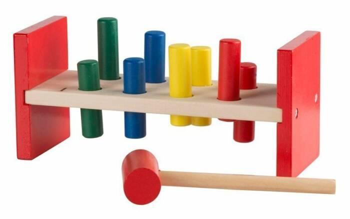 Wooden Toys Παιδικό Παιχνίδι Ξύλινο Σετ 10 τεμ. αποτελούμενο από Πάγκο