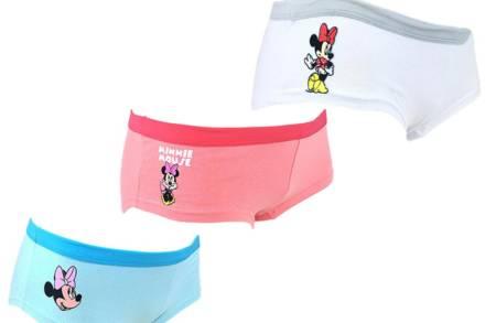 Disney Σετ Εφηβικά Εσώρουχα Μποξεράκια Βαμβακερά 6 τεμαχίων με στάμπα Minnie Mouse σε 3 χρώματα - Disney