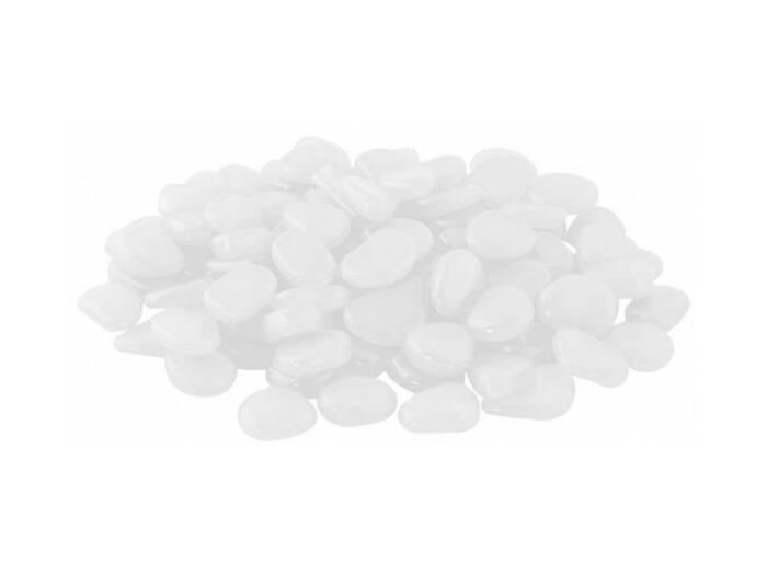 Σετ Διακοσμητικές Πέτρες 100 τεμαχίων ακανόνιστου μεγέθους σε λευκό χρώμα - Aria Trade