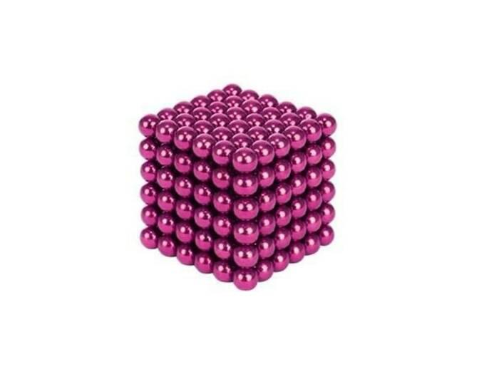 Μαγνητικές Μπάλες Μικρά Σφαιρίδια 5mm 216 τεμαχίων σε ροζ χρώμα - Aria Trade