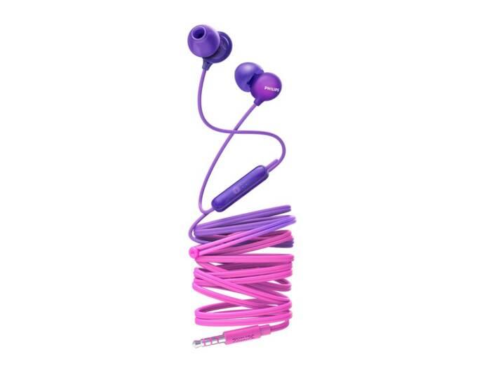 Philips Ακουστικά Handsfree ψείρες In-Ear με μικρόφωνο σε Μωβ χρώμα