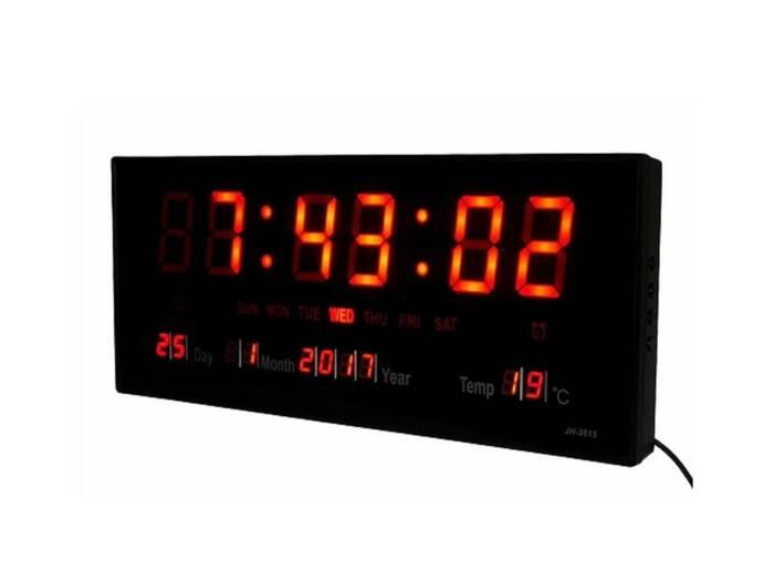 Ψηφιακό Ρολόι Τοίχου Πινακίδα με κόκκινα Led γράμματα