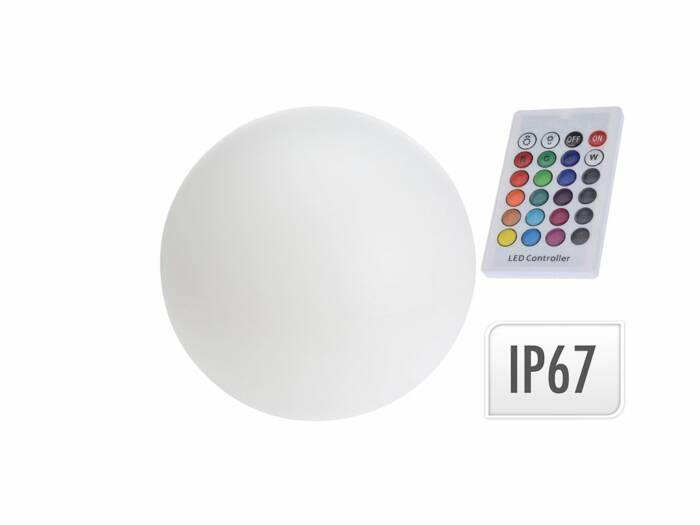 Αδιάβροχο Φωτιστικό Λάμπα LED Στρογγυλό 40cm διαμέτρου με Τηλεκοντρόλ και αλλαγή 7 χρωμάτων - Cb