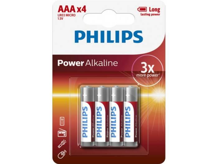 Philips αλκαλικές μπαταρίες LR03/AAA