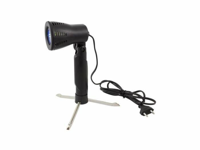Φορητός Πτυσσόμενος Προβολέας GU10 50W Ύψους 24.5cm Ιδανικός για Φωτογραφίσεις Μικροαντικειμένων σε Μαύρο χρώμα