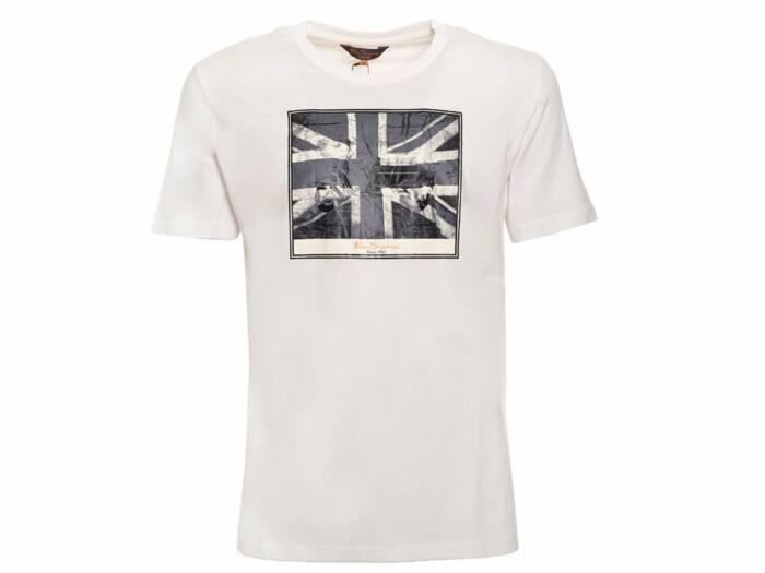Ben Sherman Ανδρικό T-Shirt σε Λευκό Χρώμα