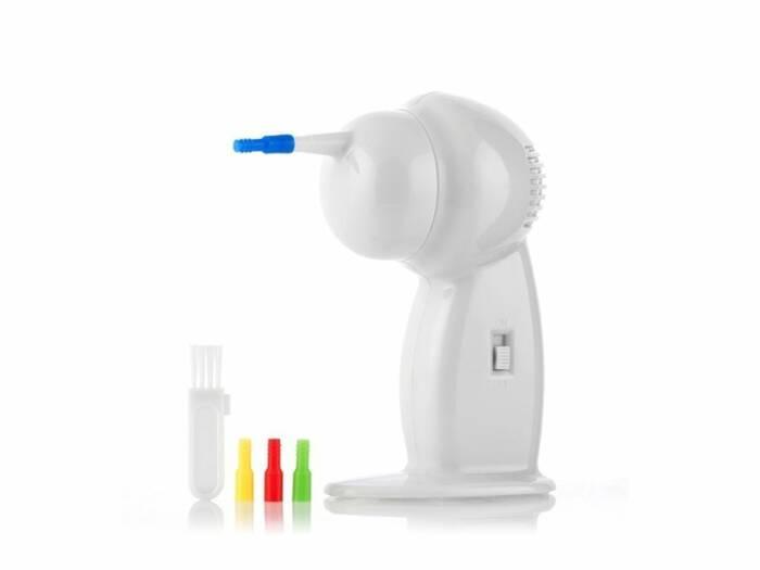 Συσκευή Καθαρισμού Αυτιών για Ανώδυνη και Ασφαλή Αφαίρεση του Κεριού με 4 Εναλλάξιμες Κεφαλές