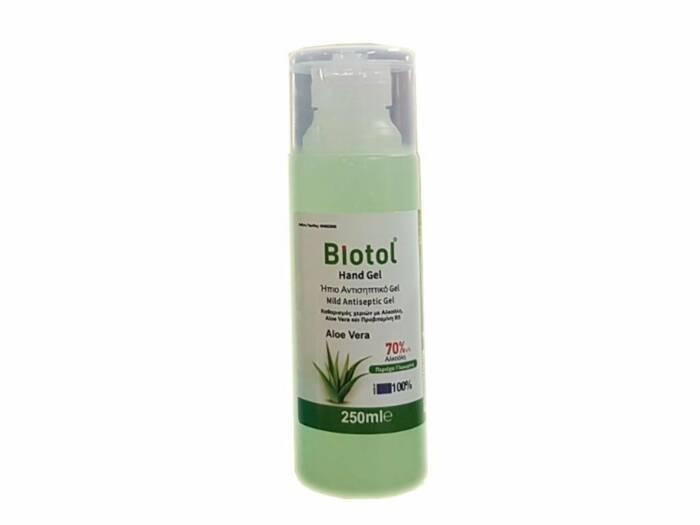 Αντισηπτικό απολυμαντικό χεριών Biotol Hand GEL με Aloe Vera  250ml