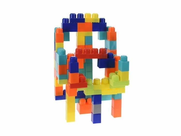 Σετ Πλαστικά Τουβλάκια 80 τεμ. σε συσκευασία μεταφοράς για ατέλειωτες ώρες παιχνιδιού και δημιουργίας κατάλληλο για παιδιά άνω των 3 ετών - Aria Trade