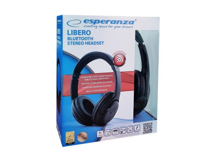 Headphones Libero Esperanza EH163K - Esperanza