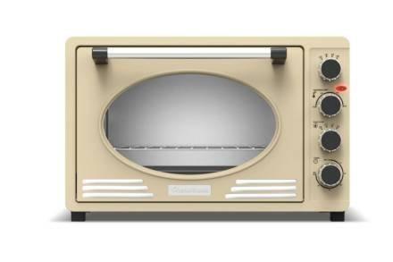 Ηλεκτρικός Retro Φούρνος Grill 45L 2000W με ταψί και πιρούνα ψησίματος σε κρεμ απόχρωση