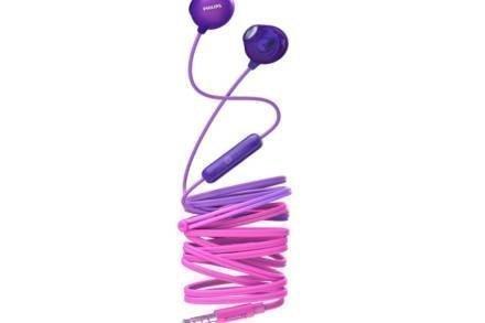 Philips Ακουστικά Handsfree ψείρες Earbuds με μικρόφωνο σε Μωβ χρώμα