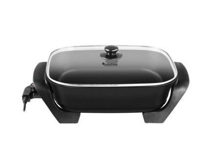 Ηλεκτρικό Αντικολλητικό Τηγάνι Πολυμάγειρας Τεπανγιάκι 1500W σε μαύρο χρώμα
