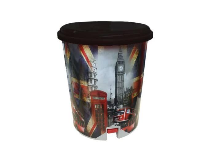 Κάδος Απορριμάτων με πεντάλ και αφαιρούμενο δοχείο με Θέμα Λονδίνο
