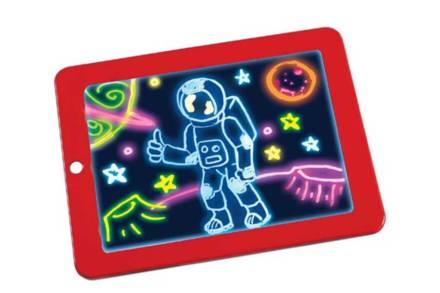 Φορητό Tablet Ζωγραφικής Magic Sketchpad με χρώματα που φωσφορίζουν σε κόκκινο χρώμα