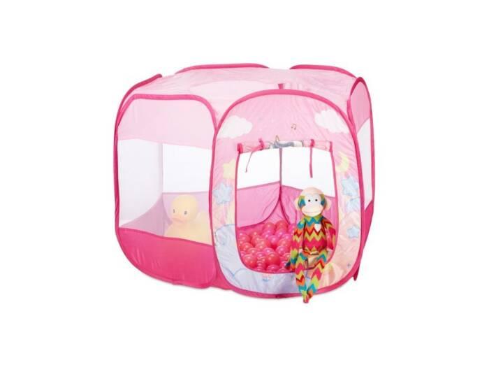Αναδιπλούμενο Παιδικό Πάρκο με 100 μπάλες σε ροζ χρώμα και σχέδιο Μονόκερος Unicorn