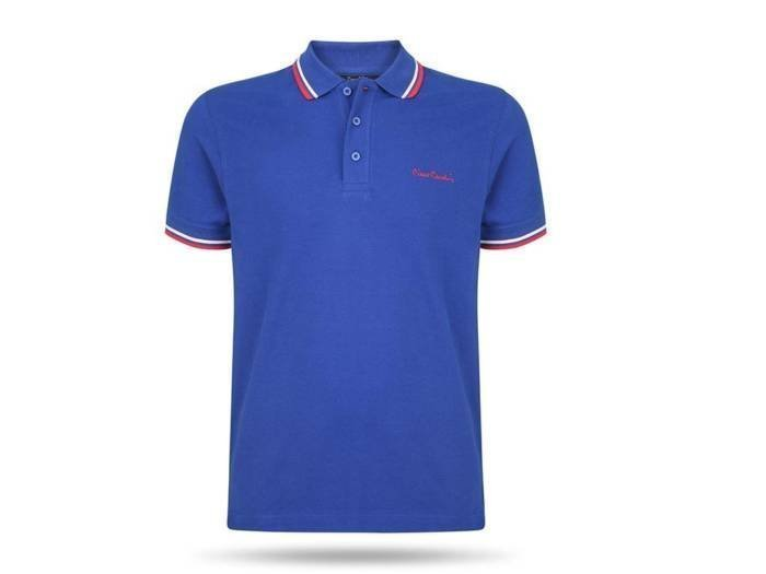 Pierre Cardin Ανδρικό Μπλουζάκι Polo T-shirt με κοντό μανίκι και κουμπιά σε Μπλε Χρώμα