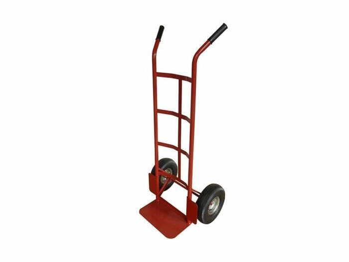 Επαγγελματικό Καρότσι μεταφοράς από Ατσάλι 115x54x45cm για Βάρος 150Kg με ρόδες σε Κόκκινο χρώμα - HT