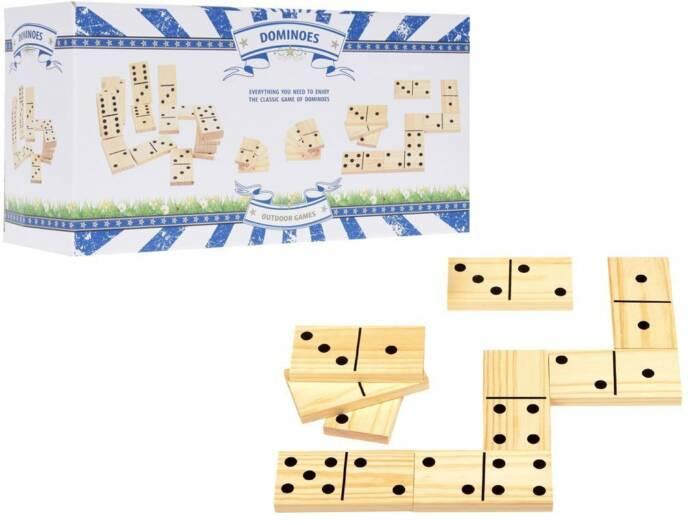 Επιτραπέζιο Παιχνίδι Ξύλινο Ντόμινο 28 τεμάχια