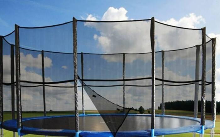 Δίχτυ Ασφαλείας για τραμπολίνο Διαμέτρου 4.60m και ύψους 1.80m με 12 θήκες για στύλους σε μαύρο χρώμα -