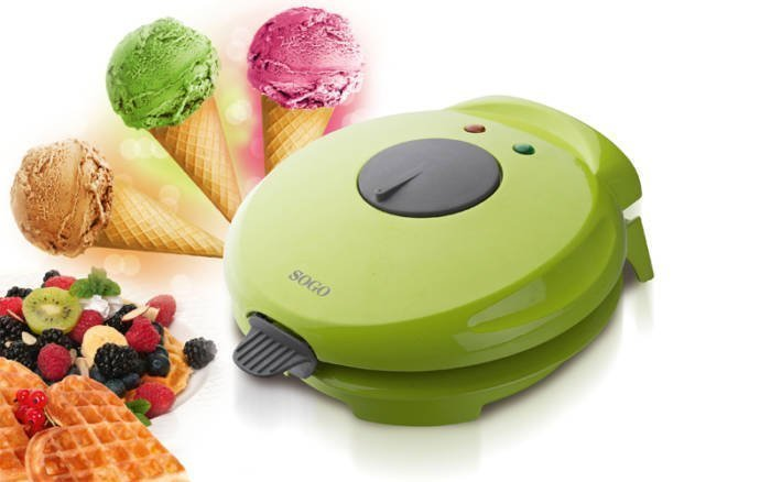 SOGO Βαφλιέρα και Παρασκευαστής Χωνάκι Παγωτού 750W
