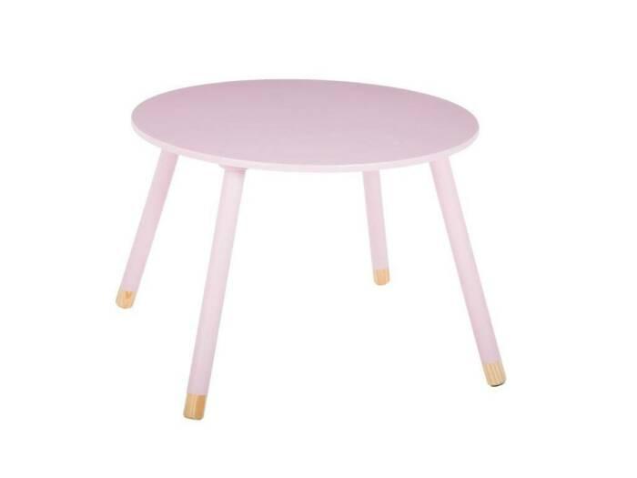 Ξύλινο Παιδικό Τραπεζάκι σε ροζ χρώμα