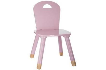 Παιδικό Ξύλινο Καρεκλάκι σε ροζ χρώμα