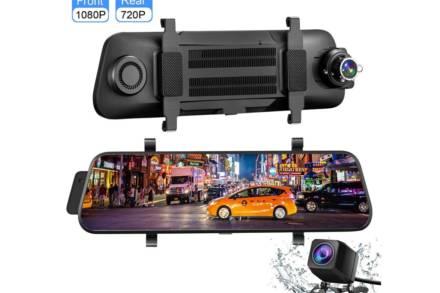 Διπλή Κάμερα Καθρέπτης Οπισθοπορείας 9.66'' 1080P Full HD με οθόνη αφής και κάμερα οπισθοπορείας
