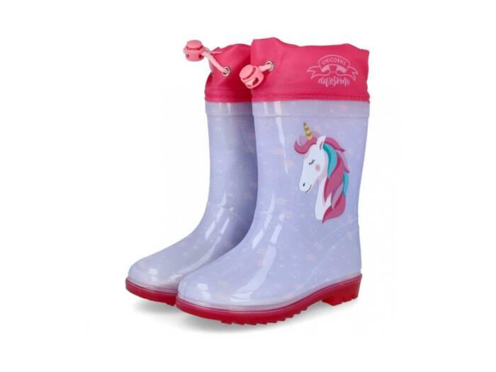 Unicorn Παιδικές Γαλότσες για κορίτσια με θέμα Μονόκερος