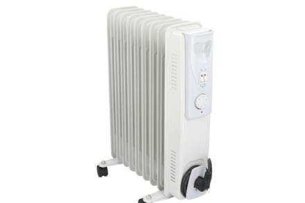 Καλοριφέρ λαδιού 2000W με ρυθμιζόμενο θερμοστάτη σε λευκό χρώμα