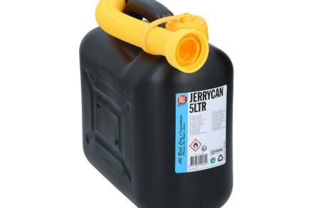 Κάνιστρο Δοχείο Μεταφοράς και Αποθήκευσης Καυσίμου με Σωλήνα Επέκτασης σε Μαύρο χρώμα 5L