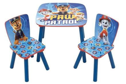 Ξύλινο Παιδικό Σετ Τραπεζάκι με 2 καρέκλες με θέμα Paw Patrol
