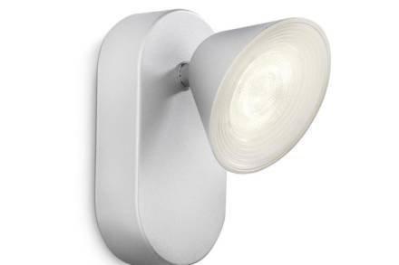 Philips MYLIVING Φωτιστικό Οροφής τοίχου LED 3W σε ασημί χρώμα
