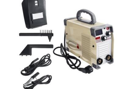 Ηλεκτροκόλληση Inverter 420A 220V με ψηφιακή οθόνη σε μπεζ χρώμα
