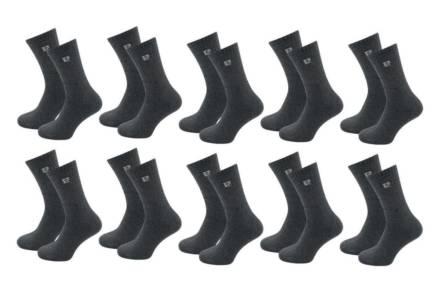 Pierre Cardin Σετ Ανδρικές κάλτσες 10 τεμαχίων σε ανθρακί απόχρωση