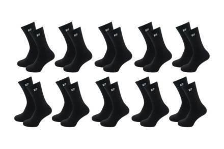 Pierre Cardin Σετ Ανδρικές κάλτσες 10 τεμαχίων σε μαύρο χρώμα