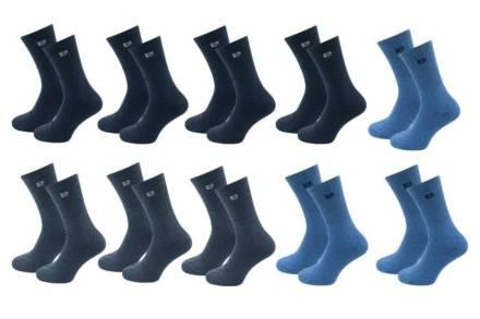 Pierre Cardin Σετ Ανδρικές κάλτσες 10 τεμαχίων σε τρία χρώματα