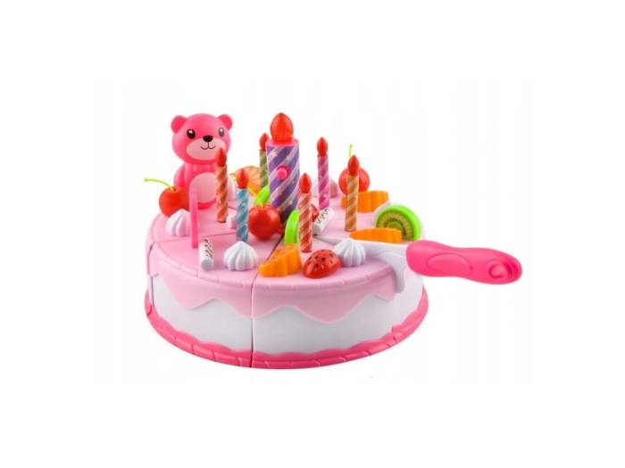 Cutting birthday cake set - Aria Trade