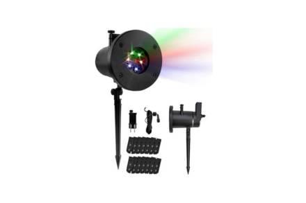 Διακοσμητικός Αδιάβροχος Προβολέας Laser LED Εξωτερικού Χώρου με 12 διαφορετικά μοτίβα φωτισμού - Aria Trade