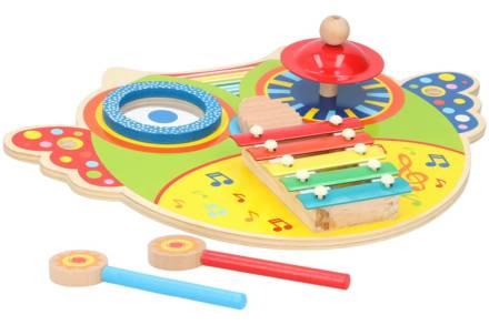 Παιδικό Ξυλόφωνο με 5 πλάκες νότες για εκμάθηση τόνων και μουσικής