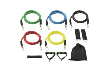 Σετ γυμναστικής Ελατήρια Αντίστασης 5 τεμαχίων με τσάντα αποθήκευσης