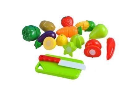 Σετ Παιχνίδι Φρούτα και Λαχανικά Διαίρεσης 14 τεμαχίων