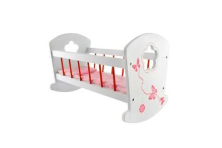 Παιδικό Παιχνίδι Ξύλινη Κούνια μωρού για κούκλες