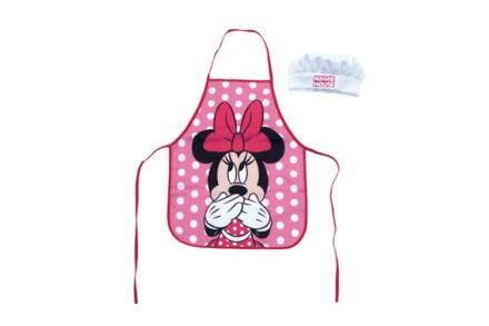 Παιδική ποδιά μαγειρικής Minnie Mouse με καπέλο chef