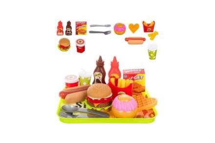 Παιχνίδι μίμησης δίσκος Burger με 26 αξεσουάρ fast food - Aria Trade