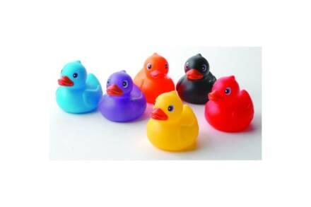 Σετ Παπάκια Μπάνιου 6 τεμάχια από Μαλακό Πλαστικό σε Διάφορα Χρώματα για παιδιά - Eddy Toys