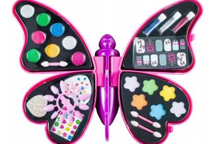 Παιχνίδι Παιδική παλέτα μακιγιάζ make up με σκιές και lip gloss