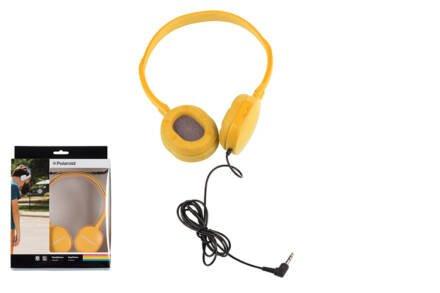 Στερεοφωνικά Ακουστικά Κεφαλής με μαξιλαράκια σιλικόνης σε Κίτρινο χρώμα