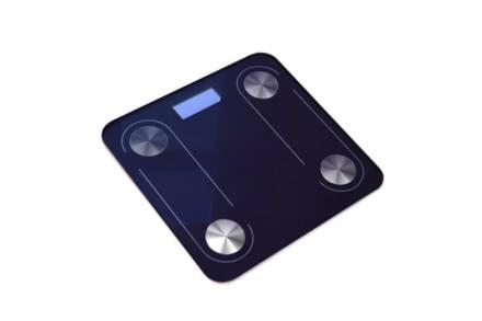 Γυάλινη Ψηφιακή Bluetooth Ζυγαριά Μπάνιου έως 180kg σε μπλε χρώμα