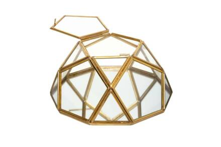 Γυάλινη Κοσμηματοθήκη Μπιζουτιέρα σε σχήμα διαμαντιού